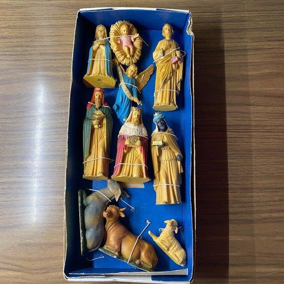 Vintage New/Old Stock ART Plastics Nativity